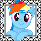 Rainbow Dash Cross Stitch Pattern (Shaded)