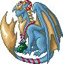 Christmas Blue Dragon