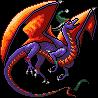 Christmas Purple and Orange Dragon