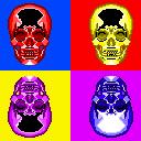 Colored Skulls