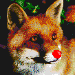 Rudolf de red nose fox!