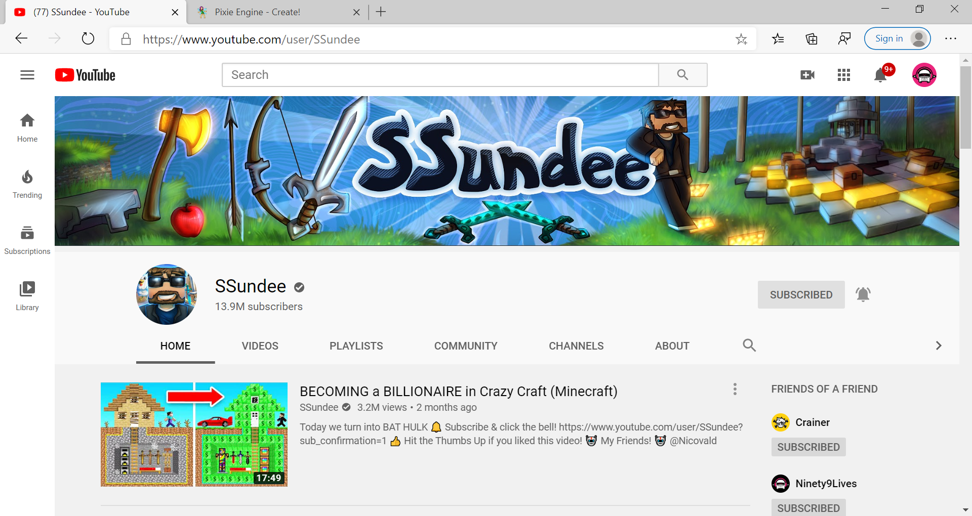 YouTube SSundee